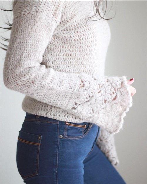 Crochet Valentina Sweater Top