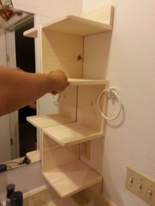 DIY Corner Shelf For You Bathroom At Techshop