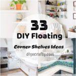 Unique DIY Floating Corner Shelves Ideas