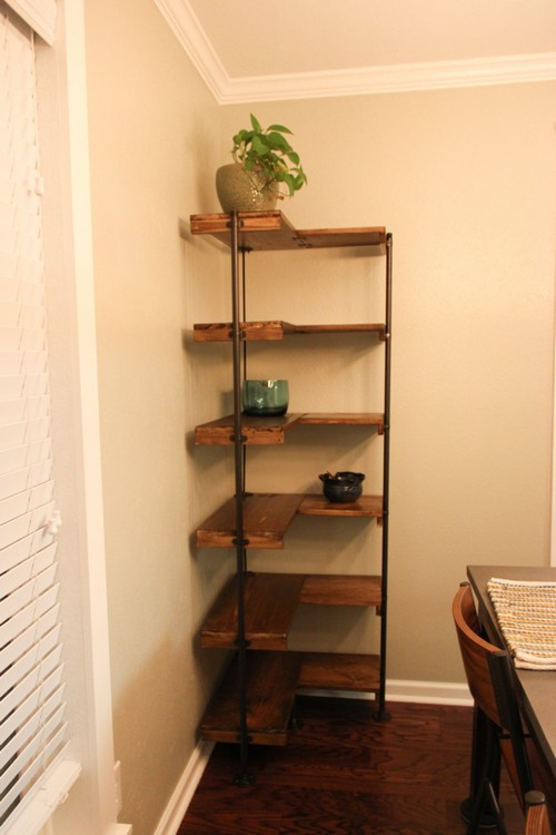 DIY Industrial Corner Shelf