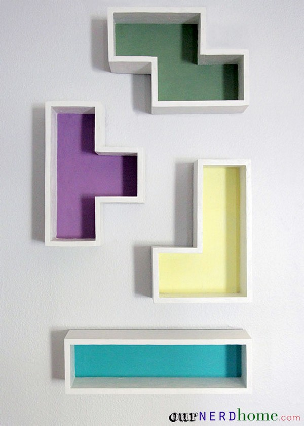 DIY Tetris Shelves