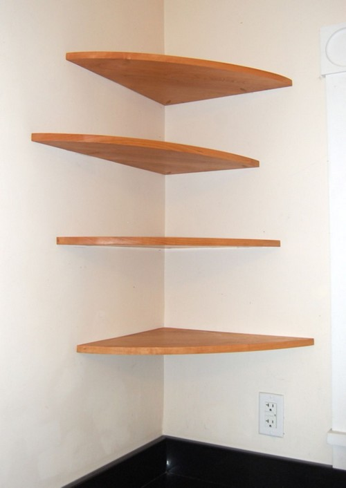 Easy DIY Corner Shelves