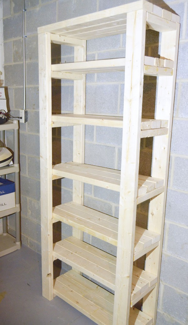 Paint Storage Shelf Made With 2x4s