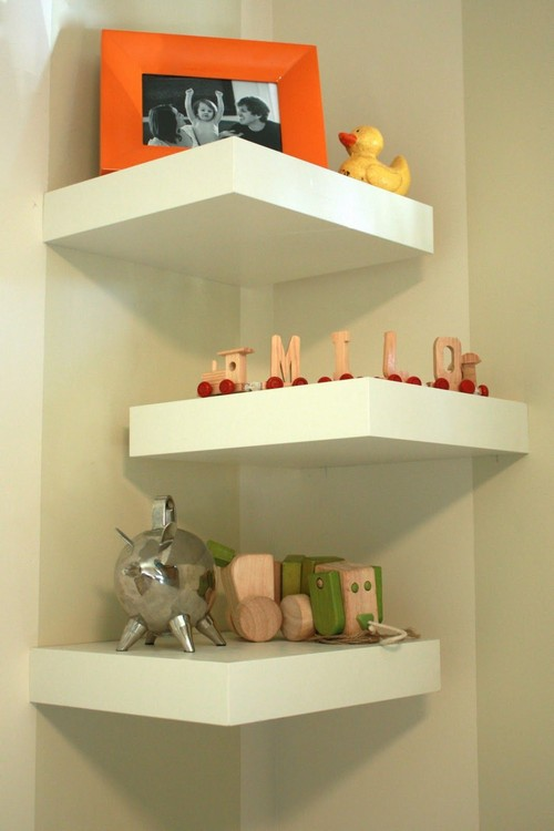 Pin Traci Bedroom Inspiration Corner Wall Shelves