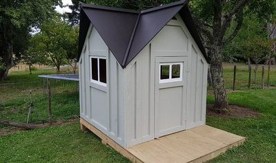 Build A Kid's DIY Playhouse Cottage