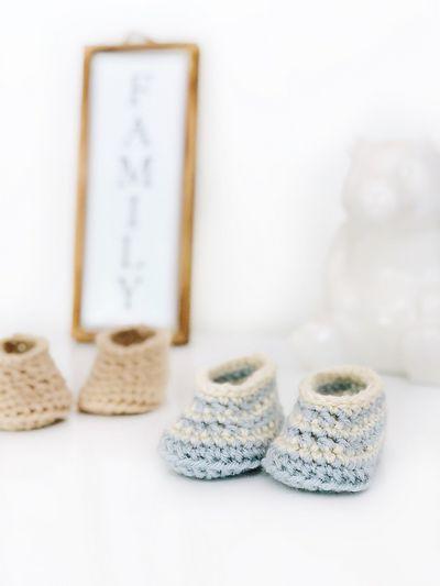 Draper Baby Boots Crochet Pattern