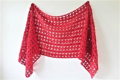 Crochet Lucia Sideways Shawl Pattern