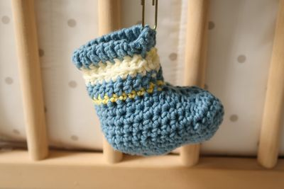 Crochet Boutchou Baby Booties Free Pattern