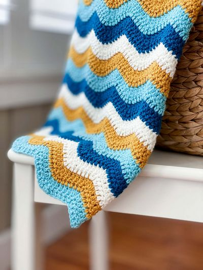 Ocean Waves Crochet Blanket Pattern