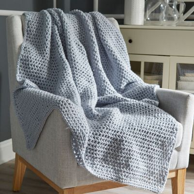 Beginner Crochet Throw Free Afghan Pattern