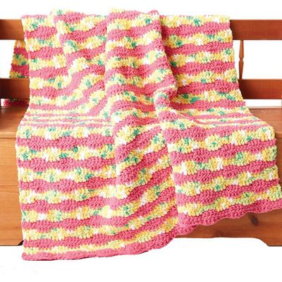 Free Crochet Summer Waves Blanket Pattern