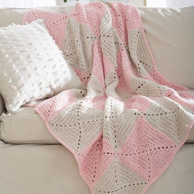 Free Crochet Twists Blanket Afghan Pattern