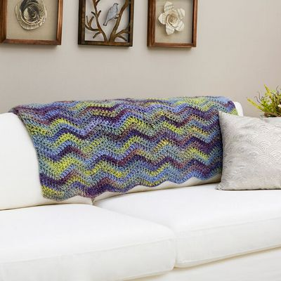 Free Crochet Waves Throw Pattern