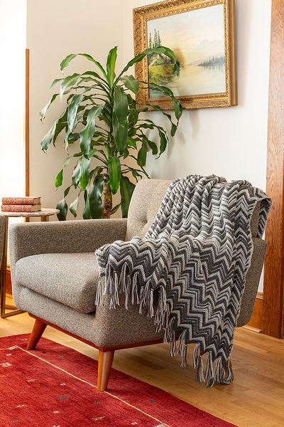 Victoria Falls Crochet Throw Free Pattern