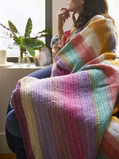 Beginner's Delight Crochet Afghan Free Pattern
