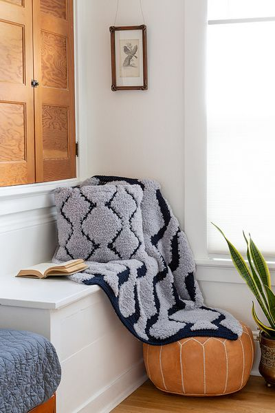 Riverwalk Pillow & Throw Crochet Afghan Free Pattern