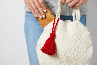 Crochet round bag pattern