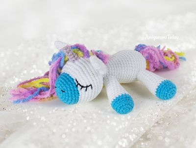 Crochet Sleeping Unicorn Pony Pattern