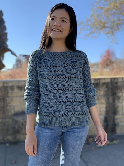 Easy Free Crochet Bead Stitch Pullover Sweater Pattern With Video Tutorial