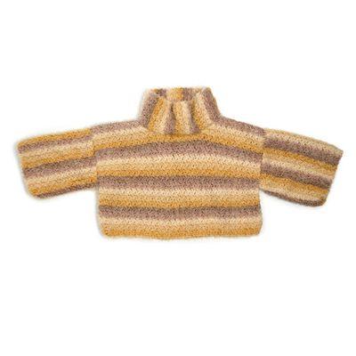 Free Boxy Cowl Neck Crochet Pullover Pattern