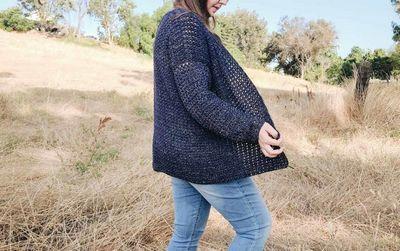 Free Crochet Cardigan Pattern Using V Stitch