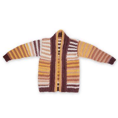 Free Let's Stripe Crochet Cardigan Pattern