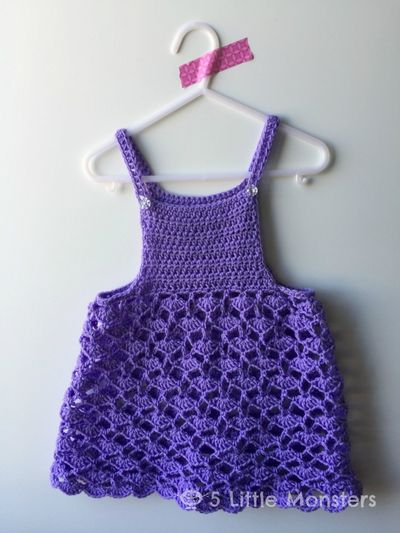 Lacy Shells Crochet Toddler Top Sweater Pattern