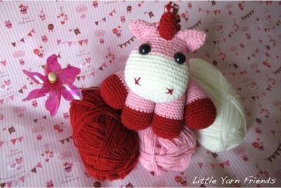 Lil' Crochet Baby Unicorn with Little Yarn Friends