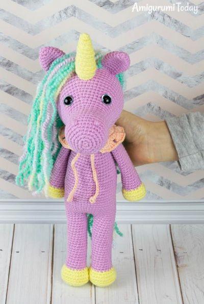 Shy Crochet Unicorn Amigurumi Free Pattern