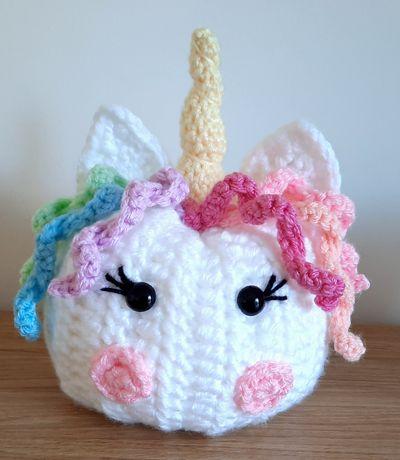 Two Faced Crochet Unicorn Pumpkin Free Pattern