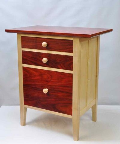 Exotic Red Nightstand