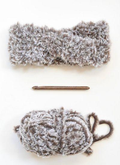 Crossed Fur Headband Ear Warmer