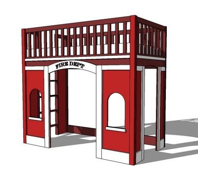 DIY Fire Station Loft Bed