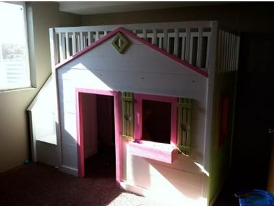 DIY Little Cottage Loft Bed