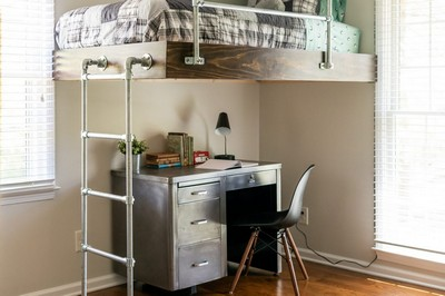 DIY Loft Bed For Boy's Room