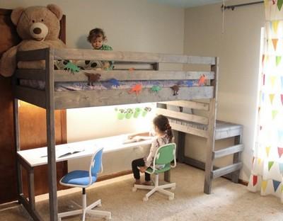 Making A Diy Loft Bed With Desk