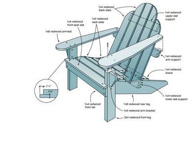 Redwood Adirondack Chair