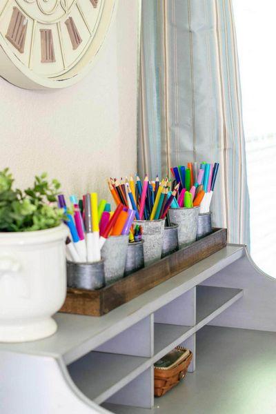 DIY Desk Organizer For School Supplies