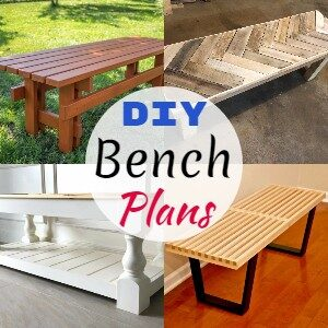 10 Best Free DIY Bench Plans And Ideas