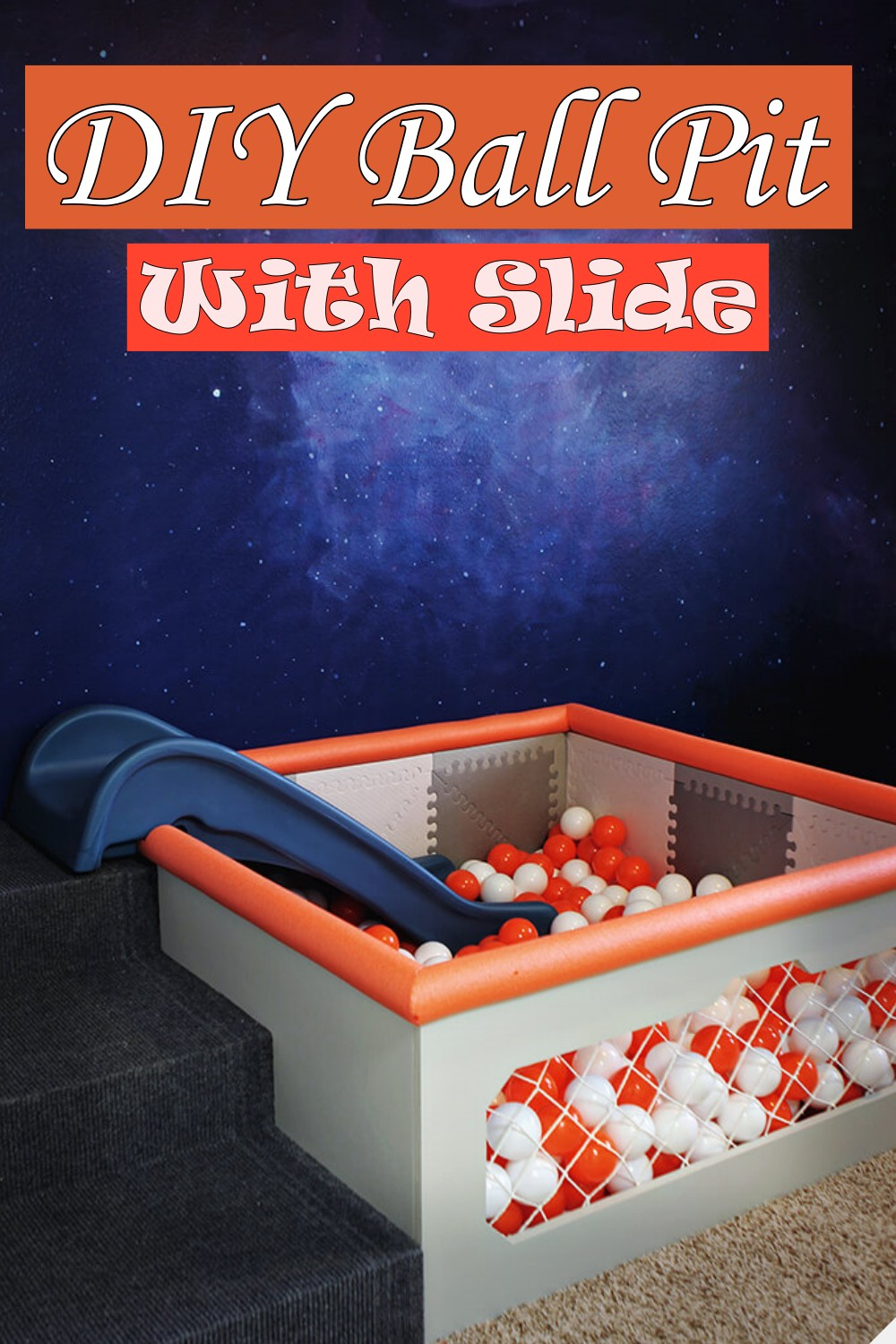 DIY Ball Pit With Slide