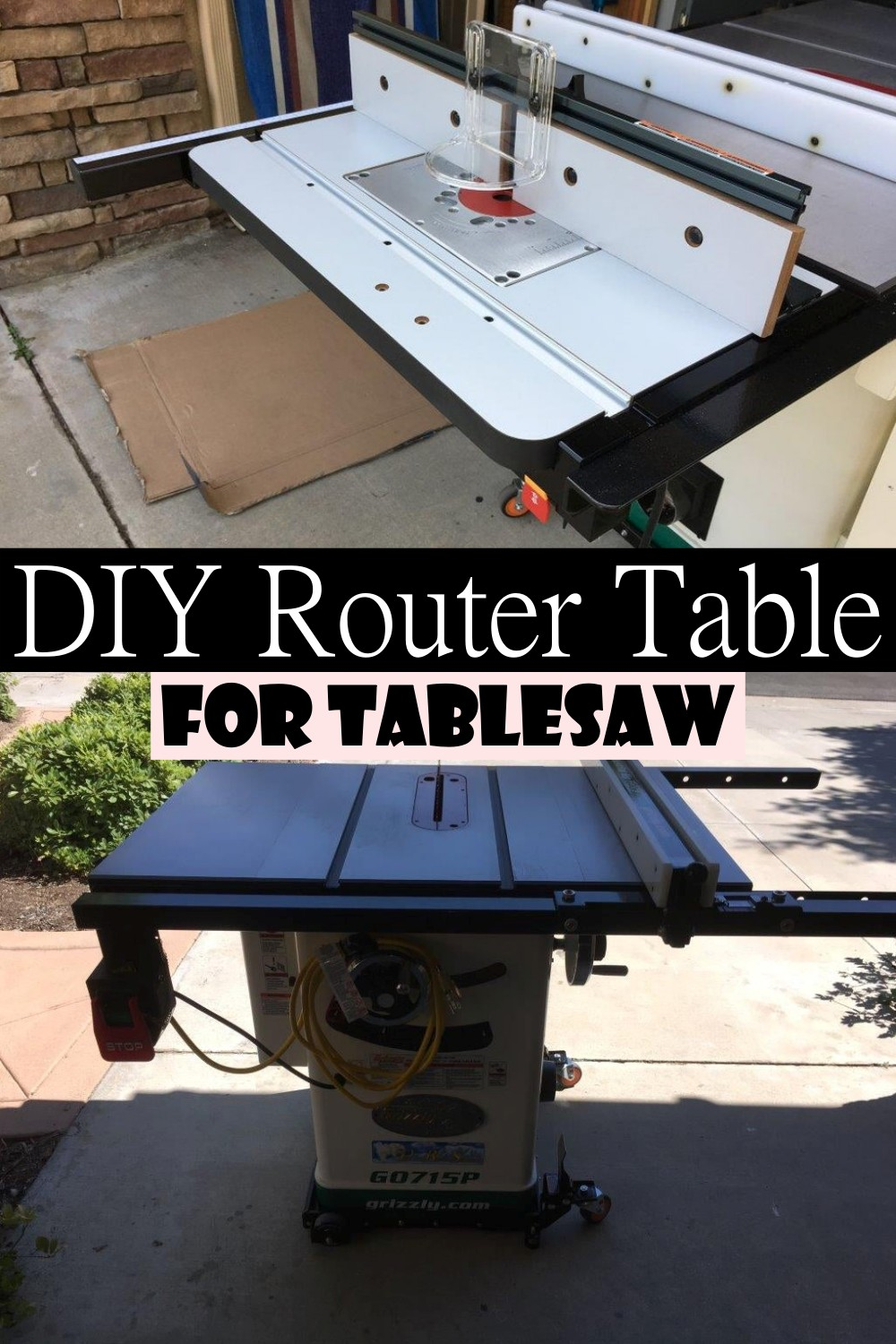 DIY Router Table For Tablesaw