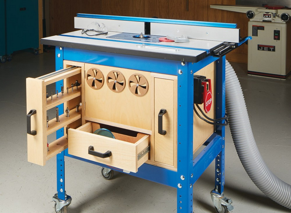 DIY Router Table Storage Cabinet