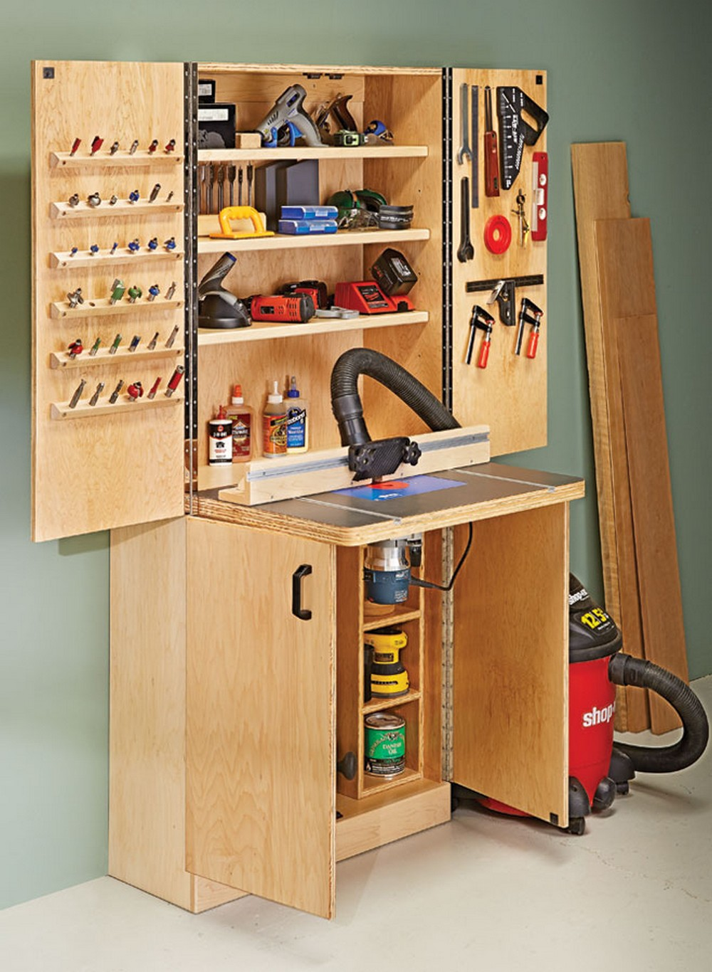 DIY Router Table Wall Cabinet