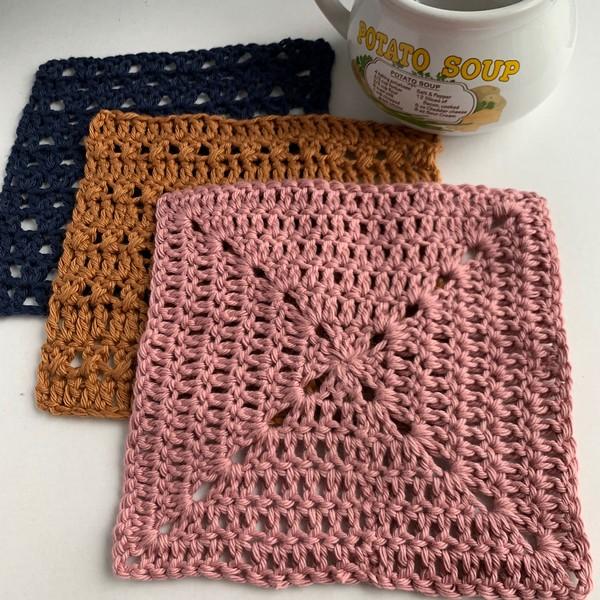 Crochet Dishcloth Sampler Pattern