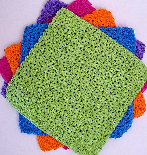 Crochet Justright And Bigtime Dishcloths Pattern