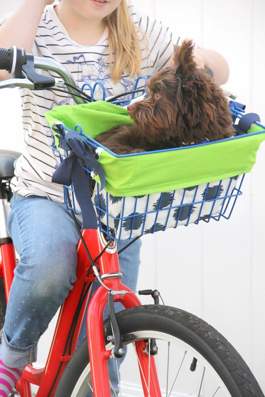 DIY Bike Basket Liner