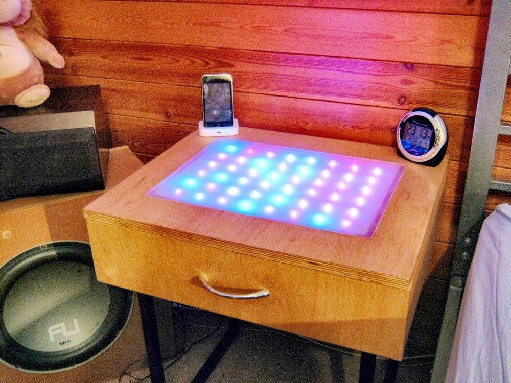 DIY Colour Changing Led Table