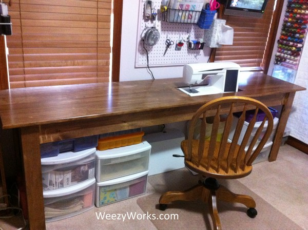 Foot Wide Needlework Table Project
