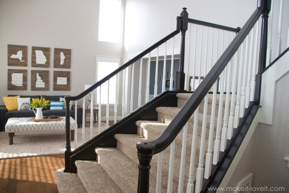 How To Stain Wood Stair Railings