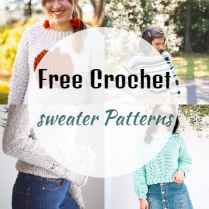 98 Free Crochet Sweater Patterns For Winter